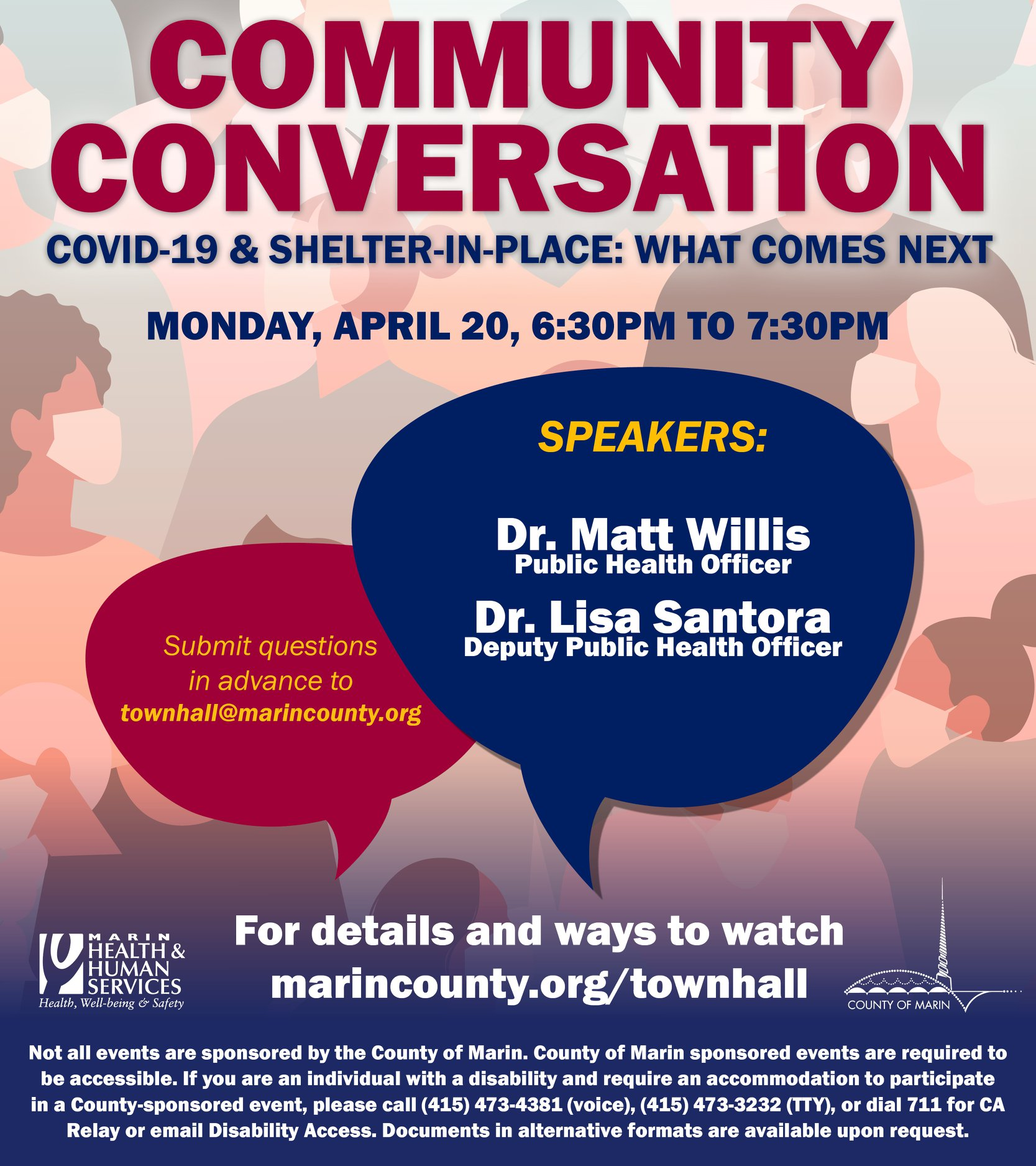 Pic of Community Conversation Town Hall Flyer