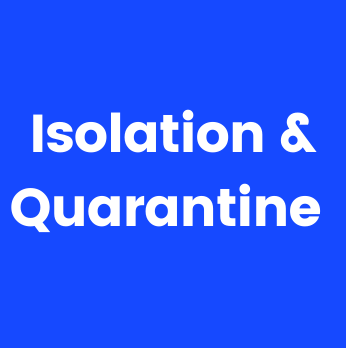 Image with text Isolation and Quarantine